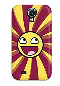 Christopher B. Kennedy's Shop Tpu Case Cover For Galaxy S4 Strong Protect Case - Smiley Design 3161530K61799182