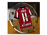 NFL AMERICAN FOOTBALL JERSEY DESKTOP CLOCK - NFC SOUTH - FREE PERSONALISATION !!!