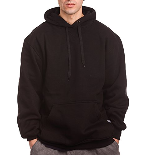- PRO 5 Mens Heavy Weight Fleece Pullover Hoodie, Large, Black
