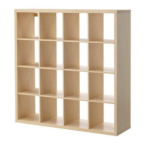 Ikea Kallax Multi Purpose Shelving Unit , Bookcase , Display Case , Birch Effect Brown , Modern