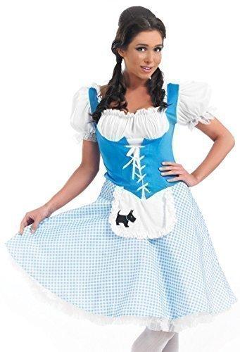 Ladies Longer Length Bo Peep Red Riding Hood Dorothy Goldilocks Fancy Dress Costume UK 8-26 Plus Size (UK 12-14]()