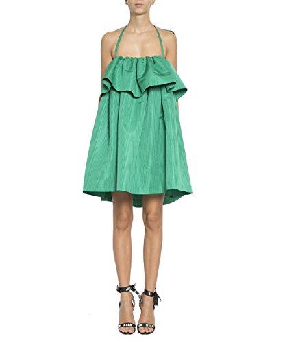 MSGM Women's 2441Mda1618410636 Green Polyester Dress by MSGM