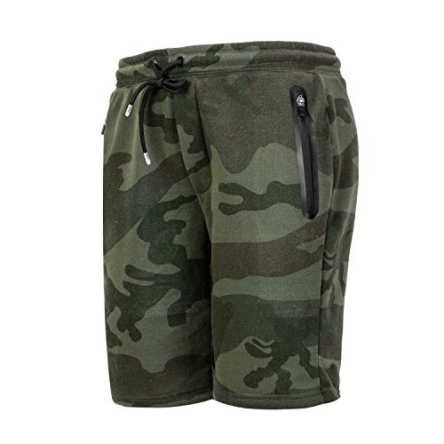 - Asysst Mens Winter Digital Camouflage Swerve Inner Athletic Liner Eco-Track Short Mens Fleece Running Tennis Pants Olive Camo Medium