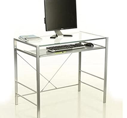 Z-line Designs Metal Desk, Silver