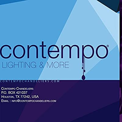 Contempo Collection Chandelier Modern Pendant Rain Drop K9 Crystal - 9 Free LIGHTS inclueded , Ceiling Flushmount Lighting Fixture for Living Room Hotel Hallway Foyer Entry Way - LARGE