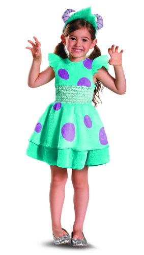 Monsters University Kids Deluxe Sulley Costumes (Disguise Disney Pixar Monster's University Sulley Girls Deluxe Costume, 4-6X)