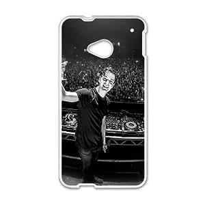 HTC One M7 Cell Phone Case White hd92 martin garrix dj celebrity music JNR2100326