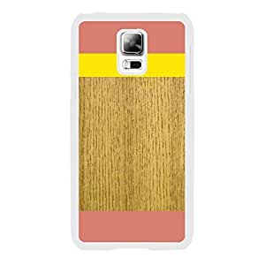 Pink and Yellow Wood Stripe Pattern Print Hard Cell Phone Cover Plastic Case for Samsung Galaxy S5 I9601 Personalized for Women