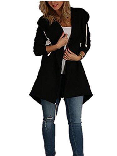 Xuan2Xuan3 Women Long Sleeve Fleece Casual Cardigan Hoodies Sweatshirts Tunic Sweater Loose Outerwear Coat Jacket