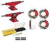 Independent Skateboard Trucks 144 Red 52mm Bighead Spitfire Wheels, Bearings