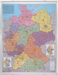 Carte Allemagne Code Postaux.Avec Carte De L Allemagne Code Postal Carte A Echelle 1 75