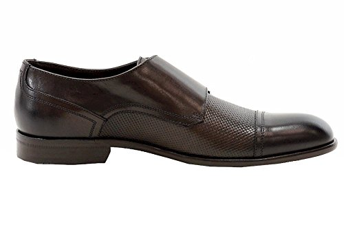 Hugo Boss Mens Brodis Fashion Dark Brown Leather Double Monk Oxfords Shoes Hl4hamH9mt