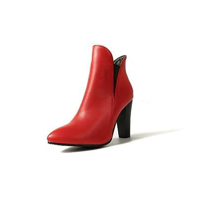 AdeeSu Womens Ballroom No-Closure Spikes Stilettos Urethane Boots SXC02431
