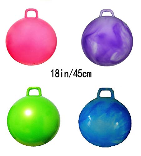 Funwhiz Hopper Ball Pump not Included Kangaroo Bouncer Hippity Hop Bouncing Toy Diameter 45cm 18 Inch for Ages 3 6 Green