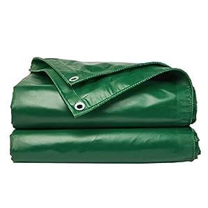 DUWEN Telo di copertura impermeabile in PVC spesso, multiuso, per giardino, campeggio, viaggi, grande tenda 6 x 10 m. 2 spesavip