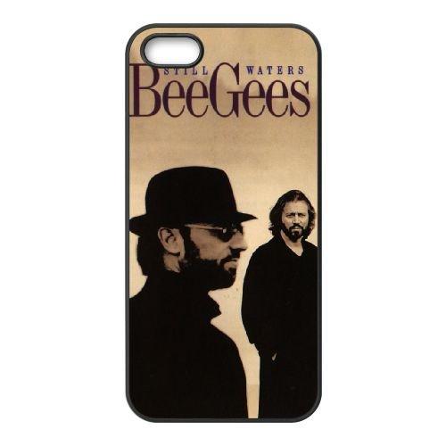 Bee Gees 001 coque iPhone 4 4S cellulaire cas coque de téléphone cas téléphone cellulaire noir couvercle EEEXLKNBC23490