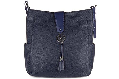 Schultertasche Damen Tasche Umhängetasche Bag blu Armani Jeans LZD8ws9hMl