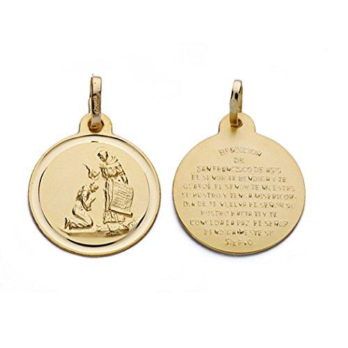 Médaille pendentif San Francisco 18k bénédiction [AA0610]