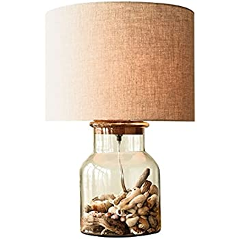 Captivating Creative Co Op DA6343 Secret Gardens Glass Fillable Jar Table Lamp With  Cork Stopper U0026