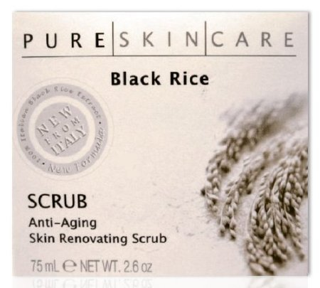 Pure Skin Care Black Rice Anti-aging Skin Renovating Scrub 2.6 Oz