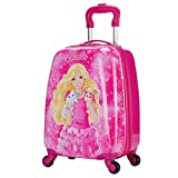 MOREFUN Frozen 18 Inch Luggage Hard Side Spinner Suitcase Carry on Luggage Rolling (Rose Red)