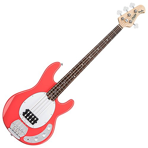 Sterling by Music Man S.U.B. Series Ray4 StingRay Bass, Fiesta Red by Sterling by Music Man