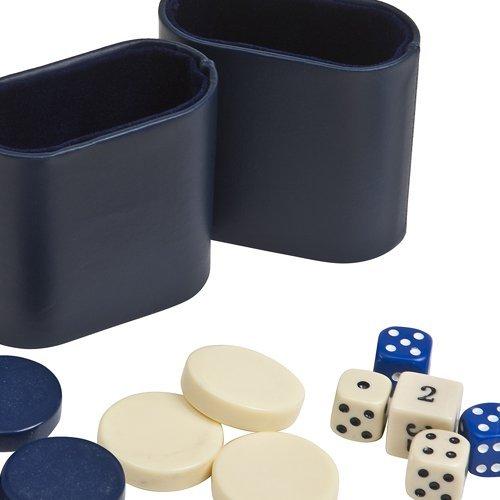 【500円引きクーポン】 Backgammon Checkers, Dice & Two Dice Cups-Blue/Ivory & Cups-Blue Two/Ivory 3.2cm B008WHZXCS, アジアンマーケット KURISP:9875b34e --- cliente.opweb0005.servidorwebfacil.com