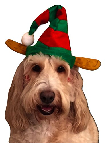 Homemade Funny Costumes (Momo&Ayat Fashions Unisex Christmas accessories Costume Headband Elf Santa All Mix & Match (Pet - Dog Elf Hat, Onesize))