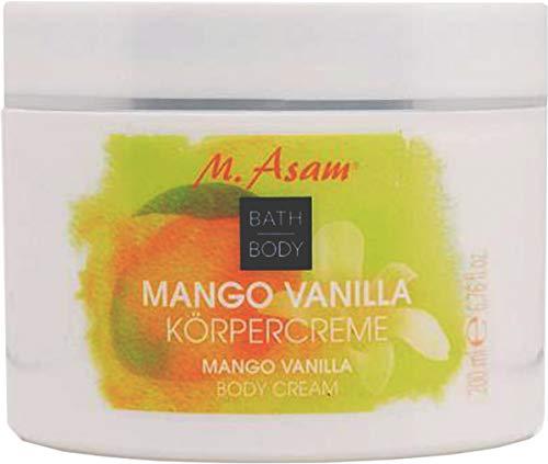 M. Asam Bath Body Mango Vanilla Body Cream, 6.76 fl oz/200mL