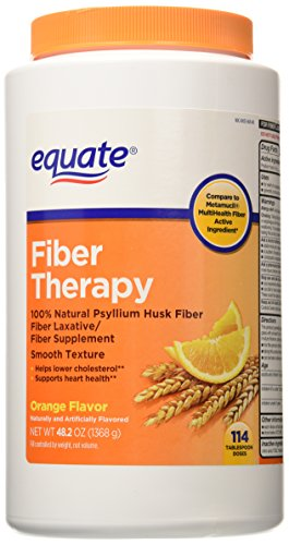 Cheap Equate – Fiber Therapy – Smooth Texture, Orange Flavor, Powder, 114 Doses Compare to Metamucil