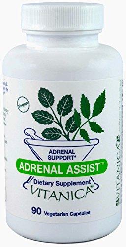 Vitanica - Adrenal Assist - Adrenal Support - 90 Vegetarian Capsules (90 Capsules Vegetarian Balance)