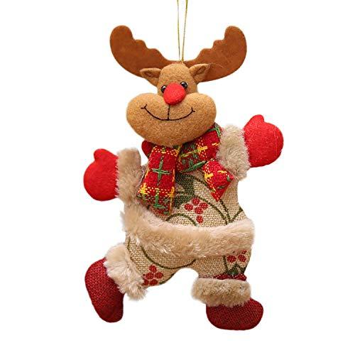 Noon-Sunshine decorative-plaques Merry Christmas Ornaments Santa Claus Snowman Tree Toy Doll Hang Decorations,Multicolour C -