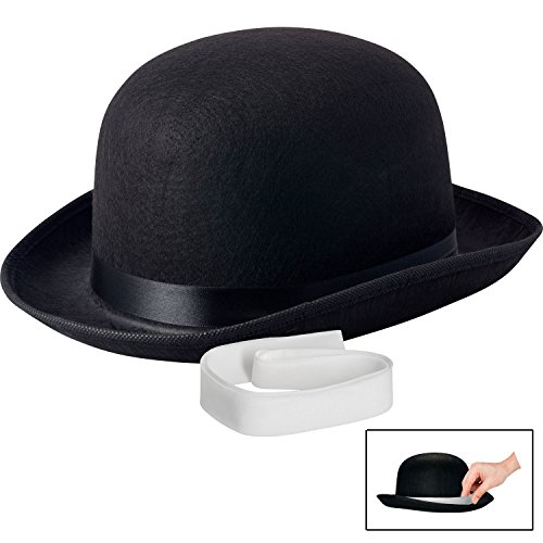 Charlie Chaplin Costume Kids (NJ Novelty - Black Derby Hat, 5