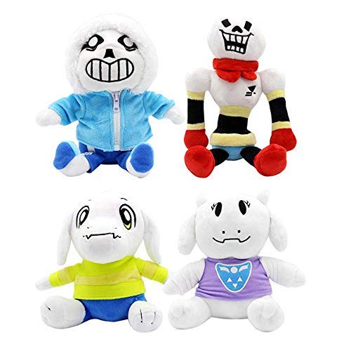 LevinArt 4pcs 20-30cm Undertale Plush Toys Undertale Sans Papyrus Asriel Toriel Stuffed Plush Toys Doll Kids Children by LevinArt