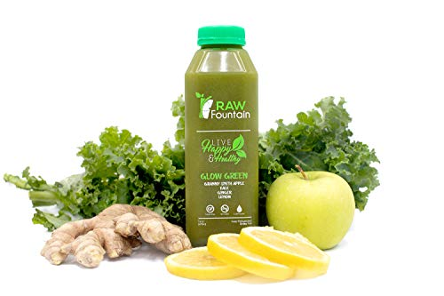 3 Day All Green Juice Cleanse by Raw Fountain - 100% Fresh Natural Organic Raw Green Juices -Give Your Body The Detox It Deserves! - 18 Bottles (16 fl oz) + 3 Bonus Ginger Shots (3 Day) by Raw Fountain   (Image #3)