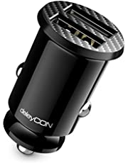 deleyCON 2,4 A Sigarettenaansteker USB-Lader - 2400 mA Fast Charge 2-Poort USB - Mini Car Charger