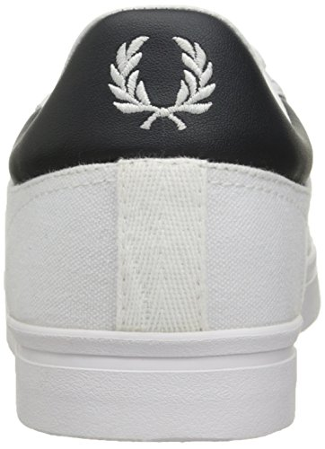 Fred Perry Heren Sidespin Canvas Mode Sneaker Wit / Carbon Blauw