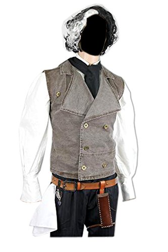 Denim Vest Costume (Sweeney Todd Vest Costume Demon Barber Fancy (XL))