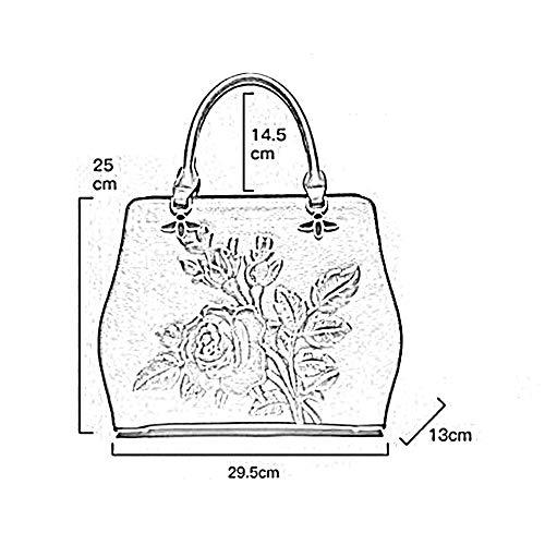 À Mlle Style Chinois Anlei Main Cm Vert Sac 13 Messenger Bag Bandoulière Tmy 29 Brown Rouge 25 5 Pu f03 5XApgBA