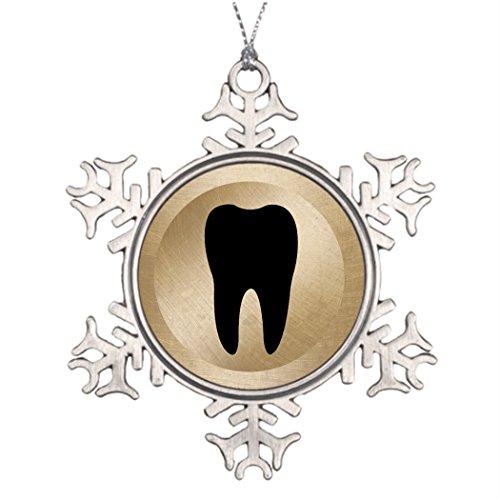 kappies nip rama de árbol decoración consultorio dental dentista diente Oro fotos de árboles de Navidad Decoración