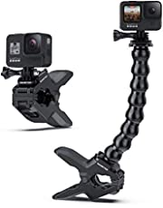 Sametop Jaws Flex Clamp Mount with Adjustable Gooseneck Compatible with Gopro Hero 9, 8, 7, 6, 5, 4, Session, 3+, 3, 2, 1, Hero (2018), Fusion, DJI Osmo Action Cameras