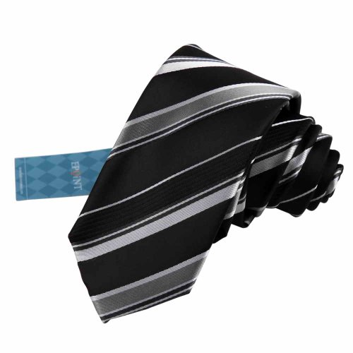 Epoint EAE1035 Black Silk Mens Skinny Tie Creative Luxury Handmade Gift Stripes Slim Necktie