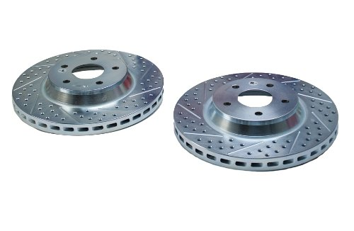 BAER 55009-020 Sport Rotors Slotted Drilled Zinc Plated Front Brake Rotor Set - Pair