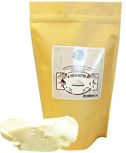 Organic Cocoa Butter FOOD GRADE 1 LB by Oslove Organics - Raw, Non-Deodorized, Unrefined, Hand packed - Best Cocoa Butter for DIY body butter and delicous Home-made Chocolate, Allergen Free