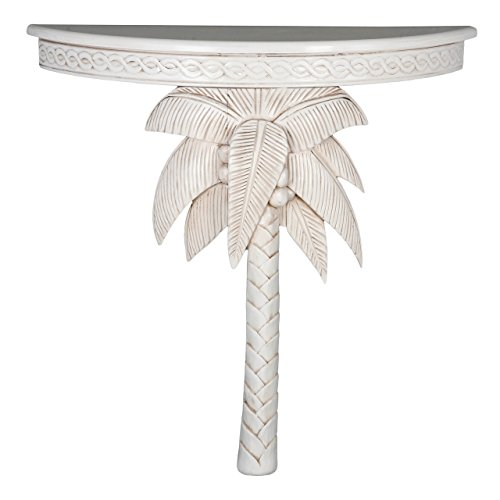 International Caravan ZM-3805-AW-IC Furniture Piece Windsor Carved Exotic Palm Tree Wall Table