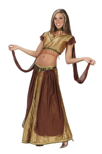 Sexy Belly Dancer Women's Halloween Costume Size Medium/Large (10-14) (Jasmine And Aladin Costume)
