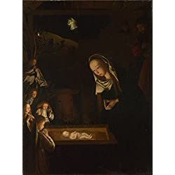 high quality polyster Canvas ,the Cheap but High quality Art Decorative Art Decorative Canvas Prints of oil painting 'Geertgen tot Sint Jans The Nativity at Night ', 30 x 40 inch / 76 x 103 cm is best for Hallway decoration and Home gallery art and Gifts
