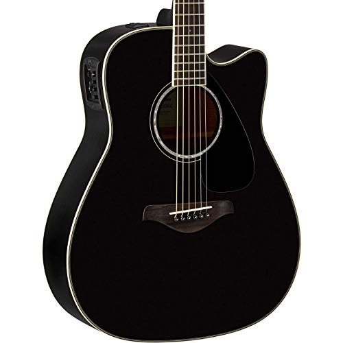 (Yamaha FGX830C Solid Top Cutaway Acoustic-Electric Guitar, Rosewood Body, Dreadnought,)