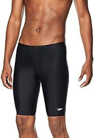 Speedo Men's Solid Jammer Bathing Suit, Black