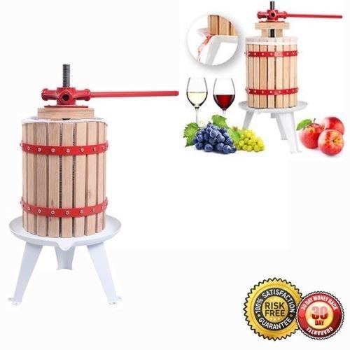 Fruit Wine 1.6 Gallon Press Cider Apple Grape Crusher Jui...